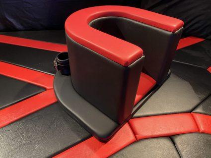Rimming / queening stoel met ronde basis